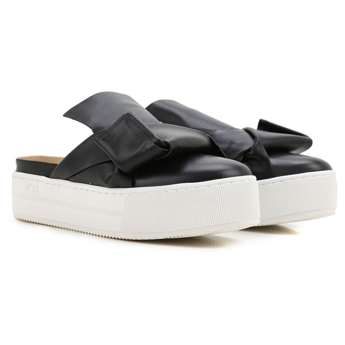 NO 21 Sandals for Women On Sale in Outlet, Black, Leather, 2019, 10 6