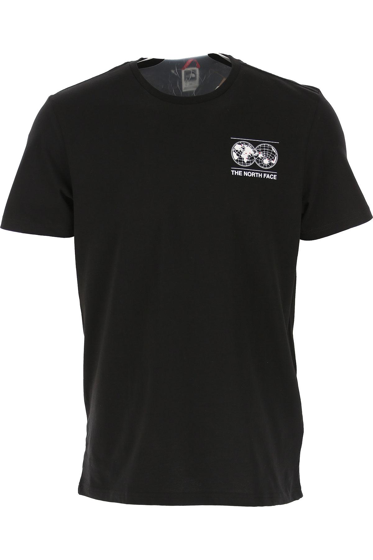 The North Face T-Shirt for Men On Sale, Black, Cotton, 2019, L M S XL