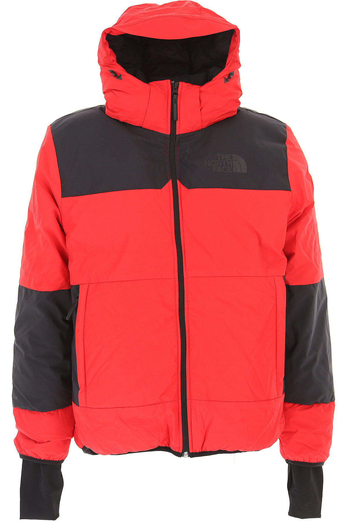 Image of The North Face Down Jacket for Men, Puffer Ski Jacket On Sale, Red, polyamide, 2017, L M S