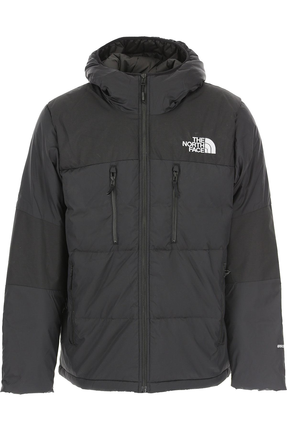 The North Face Down Jacket for Men, Puffer Ski Jacket On Sale, Black, polyamide, 2019, L M