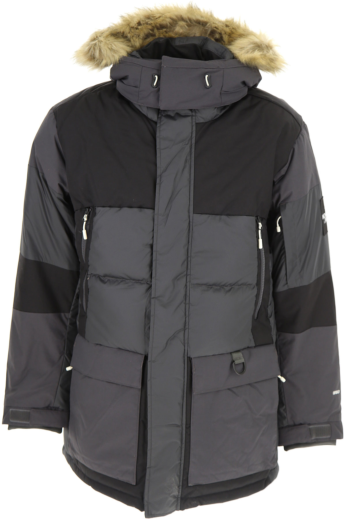 Image of The North Face Down Jacket for Men, Puffer Ski Jacket, Asphalt Grey, polyester, 2017, L M S XL