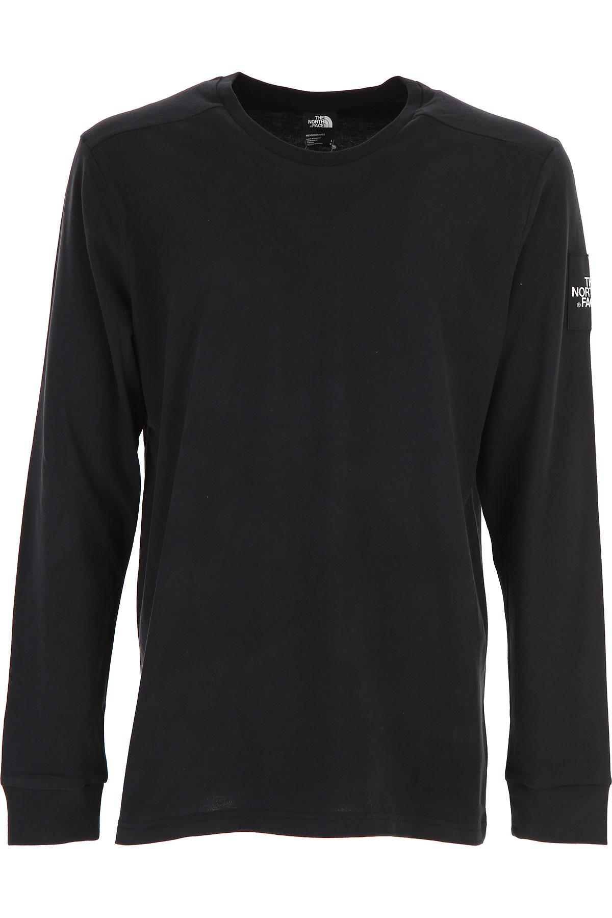 The North Face T-Shirt for Men On Sale, Black, Cotton, 2019, L M S XS