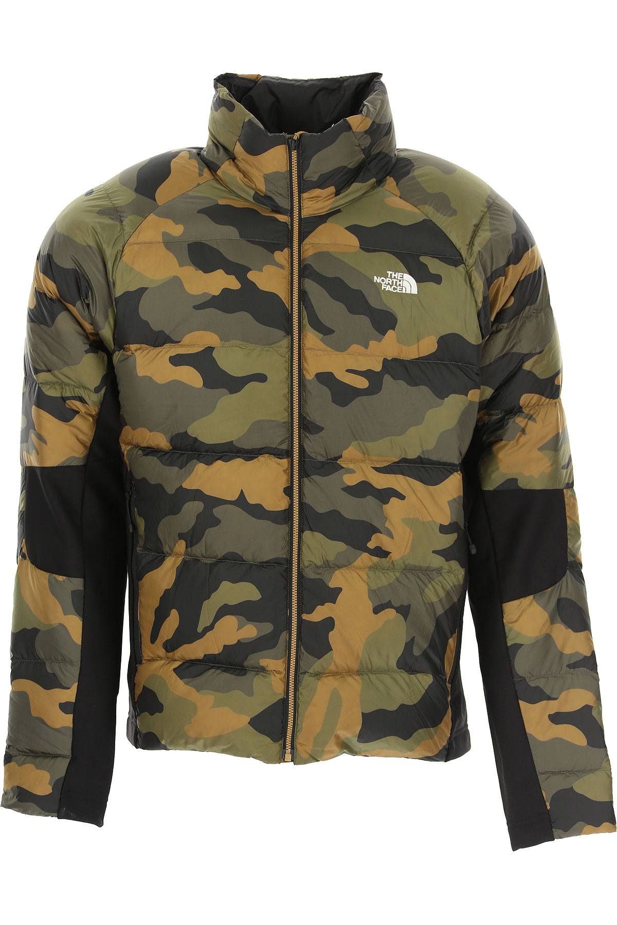 The North Face Down Jacket for Men, Puffer Ski Jacket On Sale, camouflage, Nylon, 2019, L M