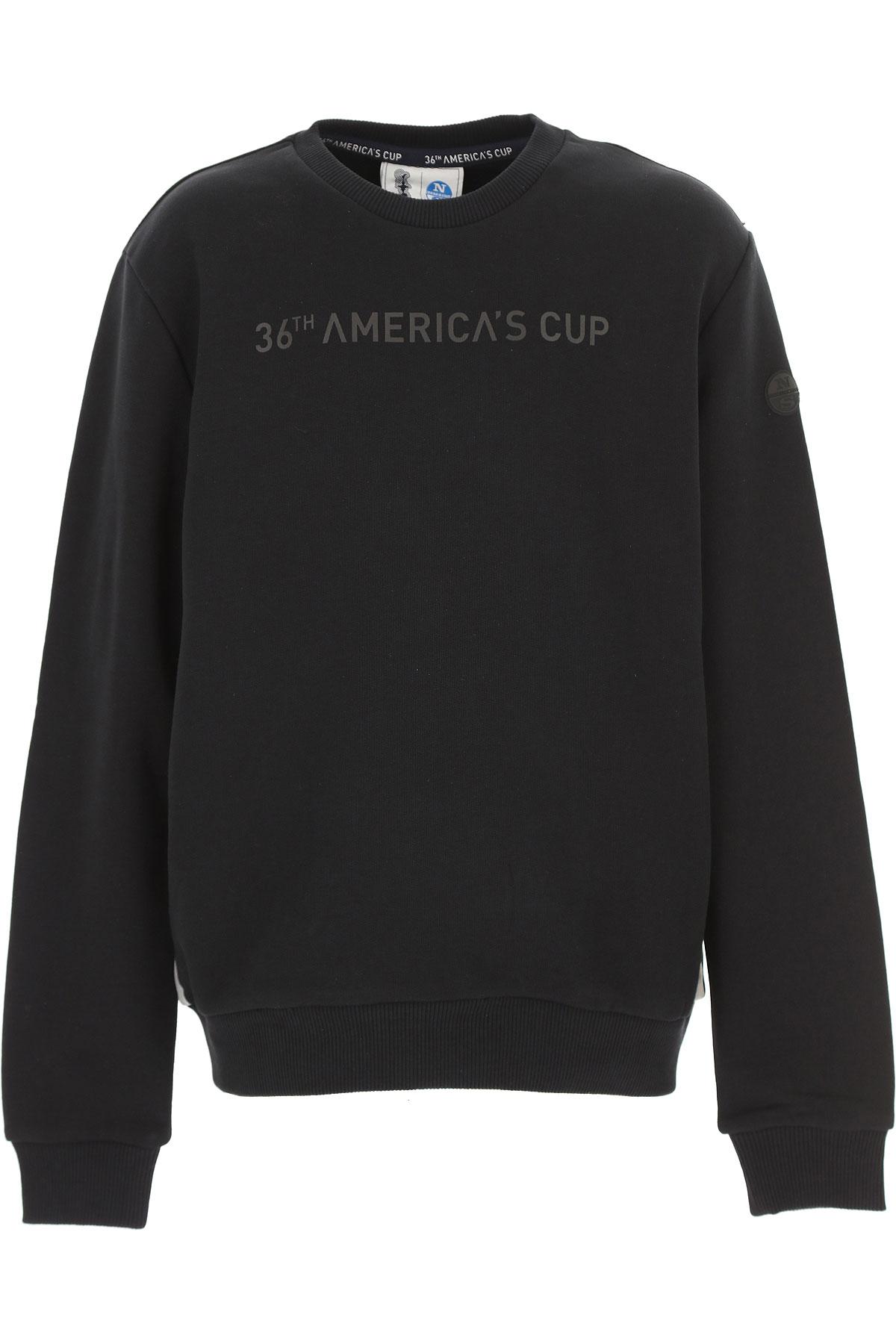 North Sails Kids Sweatshirts & Hoodies for Boys On Sale, Black, Cotton, 2019, 10Y 8Y