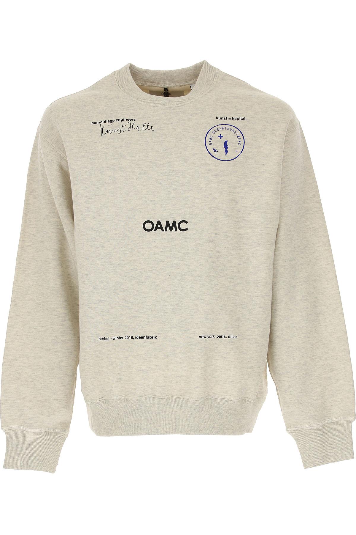 Image of OAMC Sweatshirt for Men, Light Grey, Cotton, 2017, L S