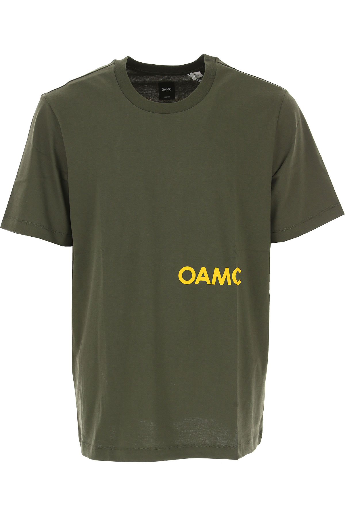 Image of OAMC T-Shirt for Men, Dark Military Green, Cotton, 2017, L M S XS