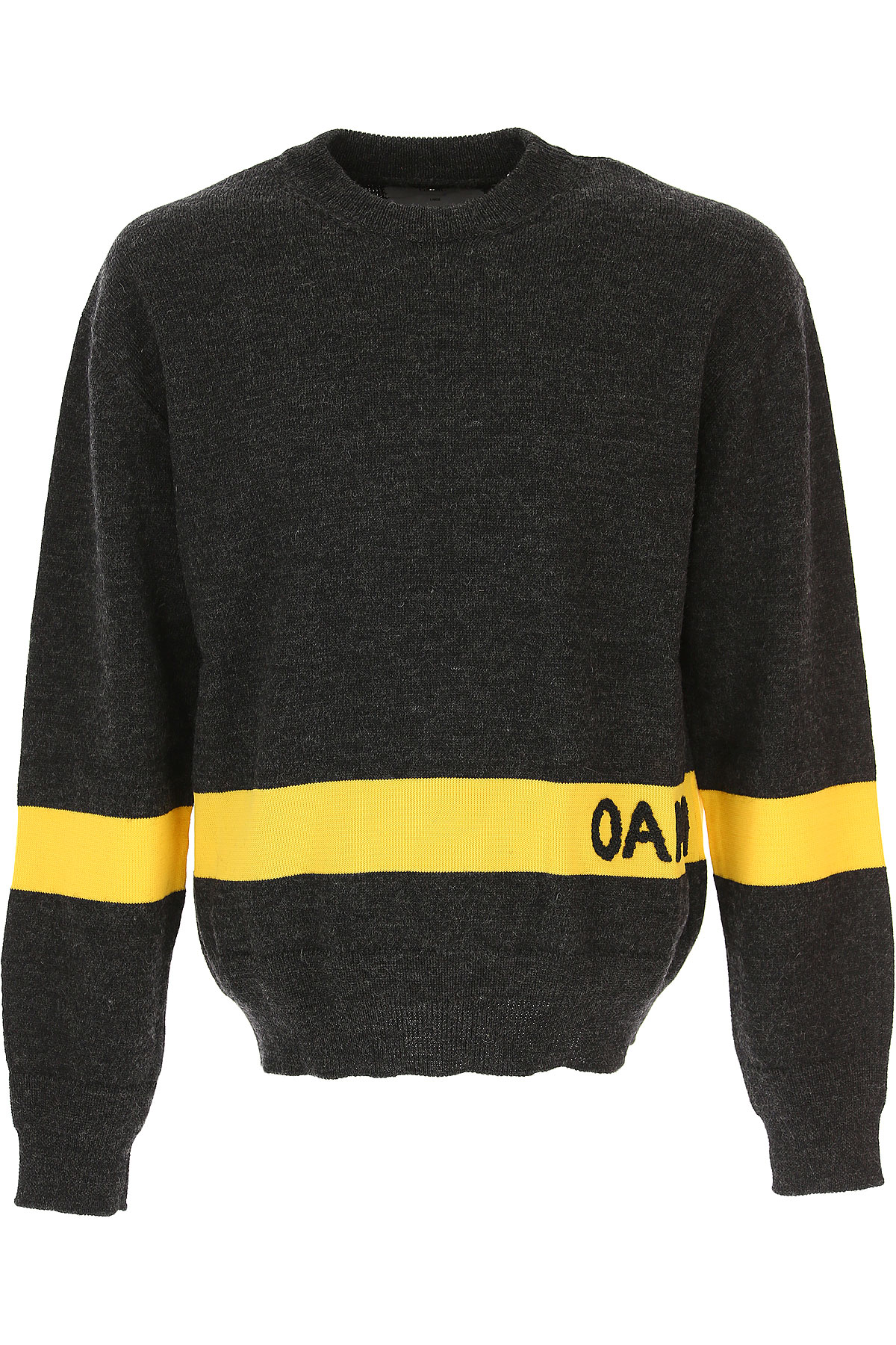 Image of OAMC Sweater for Men Jumper, Grey Melange, Wool, 2017, L M S XS
