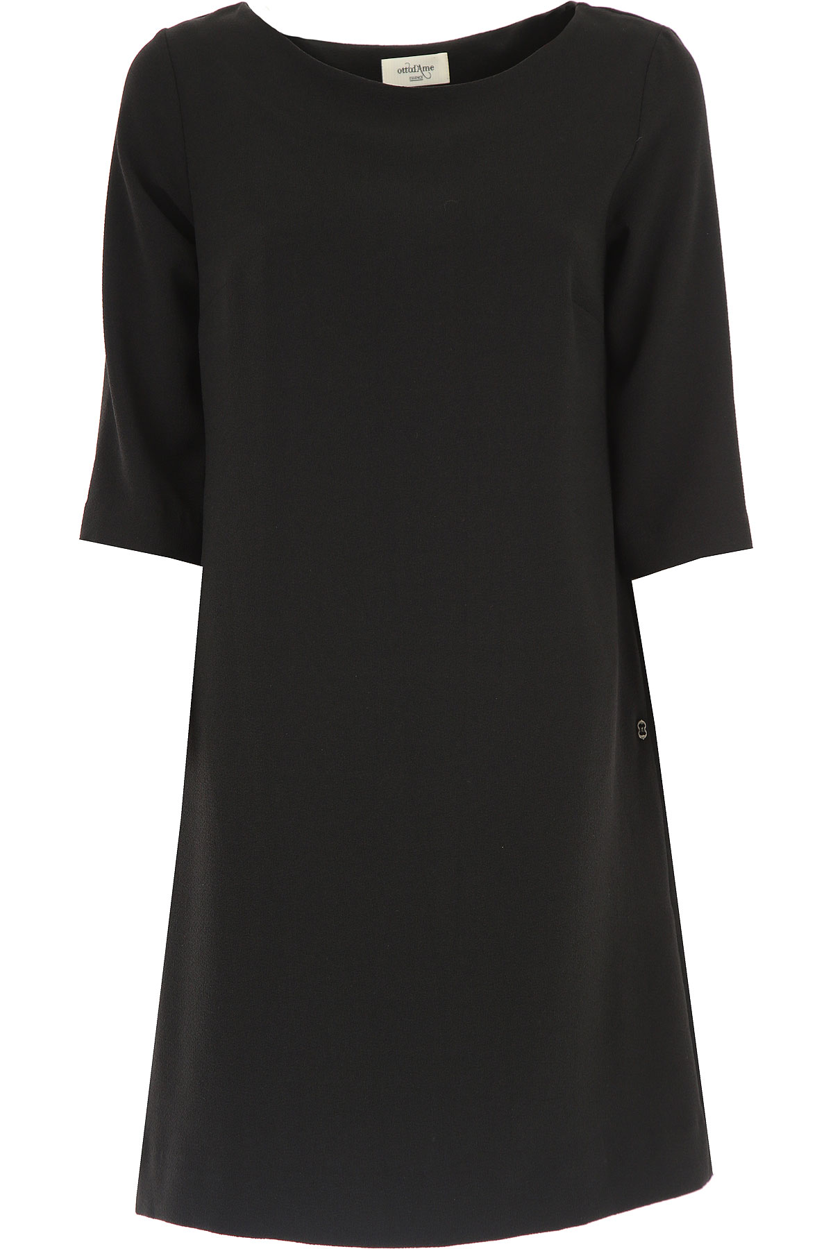 Image of Ottodame Dress for Women, Evening Cocktail Party On Sale, Black, polyester, 2017, US 6 - I 42 - GB 10 - F 38 US 8 - I 44 - GB 12 - F 40 US 10 - I 46 - GB 14 - F 42