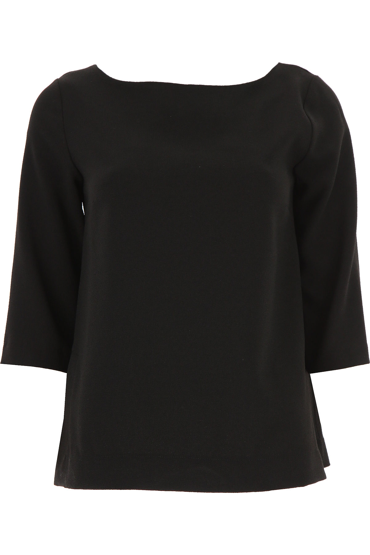 Image of Ottodame Top for Women On Sale, Black, polyester, 2017, US 4 - I 40 - GB 8 - F36 US 8 - I 44 - GB 12 - F 40 US 10 - I 46 - GB 14 - F 42