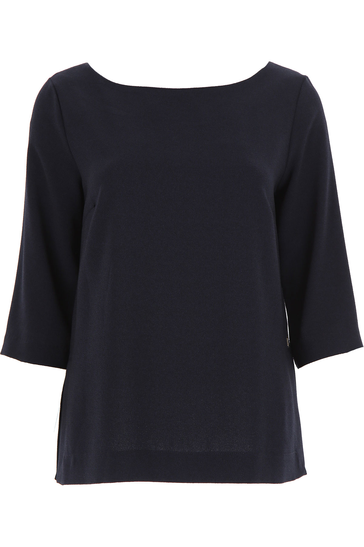 Image of Ottodame Top for Women On Sale, Blue, polyester, 2017, US 4 - I 40 - GB 8 - F36 US 8 - I 44 - GB 12 - F 40 US 10 - I 46 - GB 14 - F 42