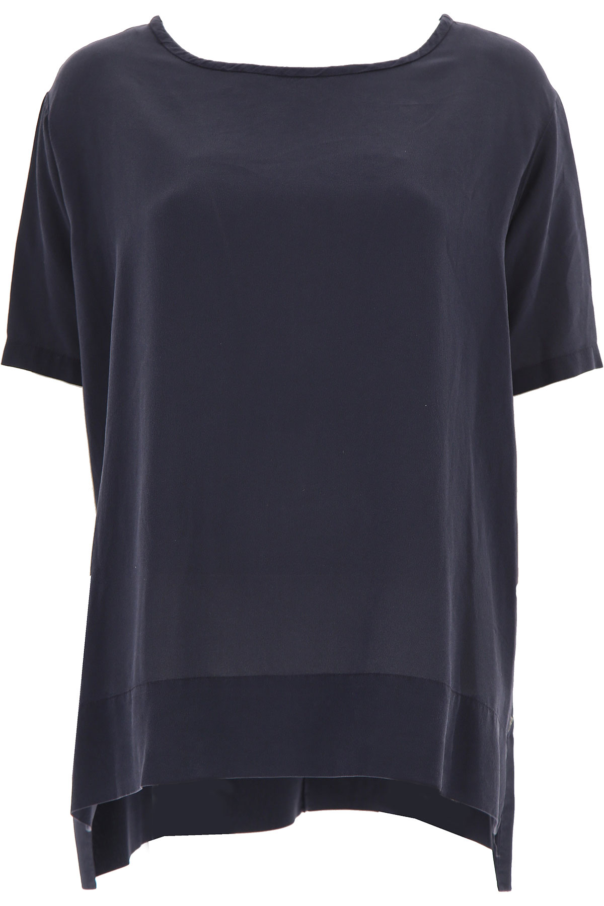 Image of Ottodame Top for Women On Sale, Blue, Silk, 2017, US 4 - I 40 - GB 8 - F36 US 8 - I 44 - GB 12 - F 40