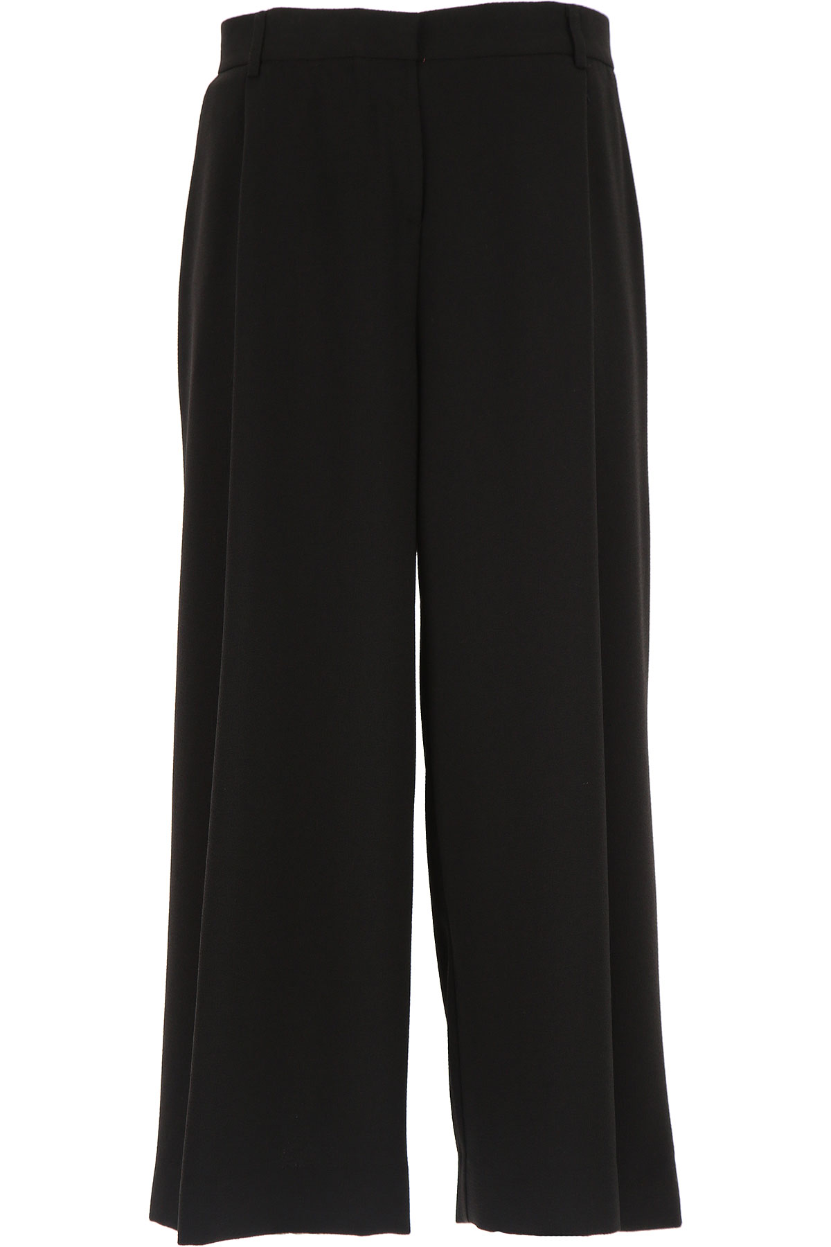 Image of Ottodame Pants for Women On Sale, Black, polyester, 2017, US 4 - I 40 - GB 8 - F36 US 8 - I 44 - GB 12 - F 40