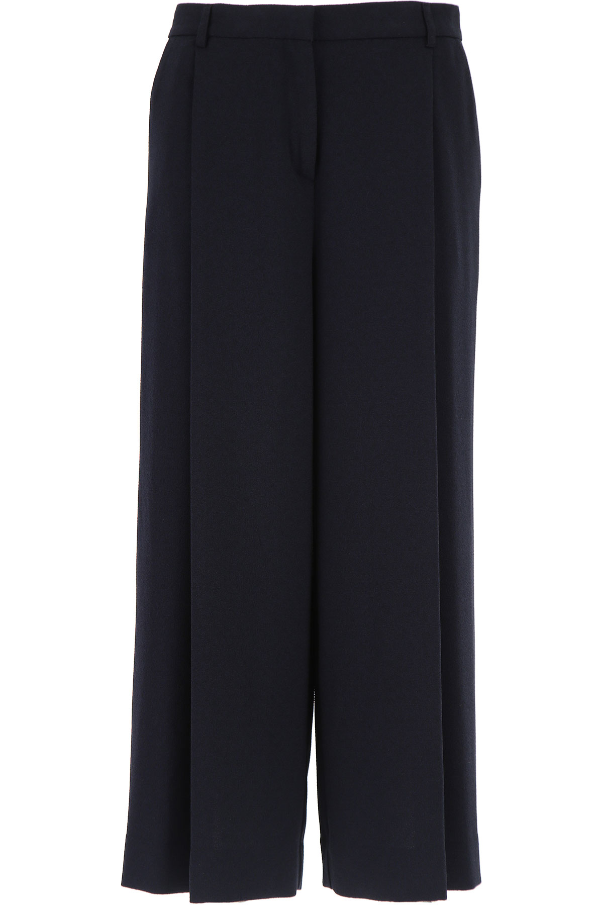 Image of Ottodame Pants for Women On Sale, Blue, polyester, 2017, US 6 - I 42 - GB 10 - F 38 US 8 - I 44 - GB 12 - F 40