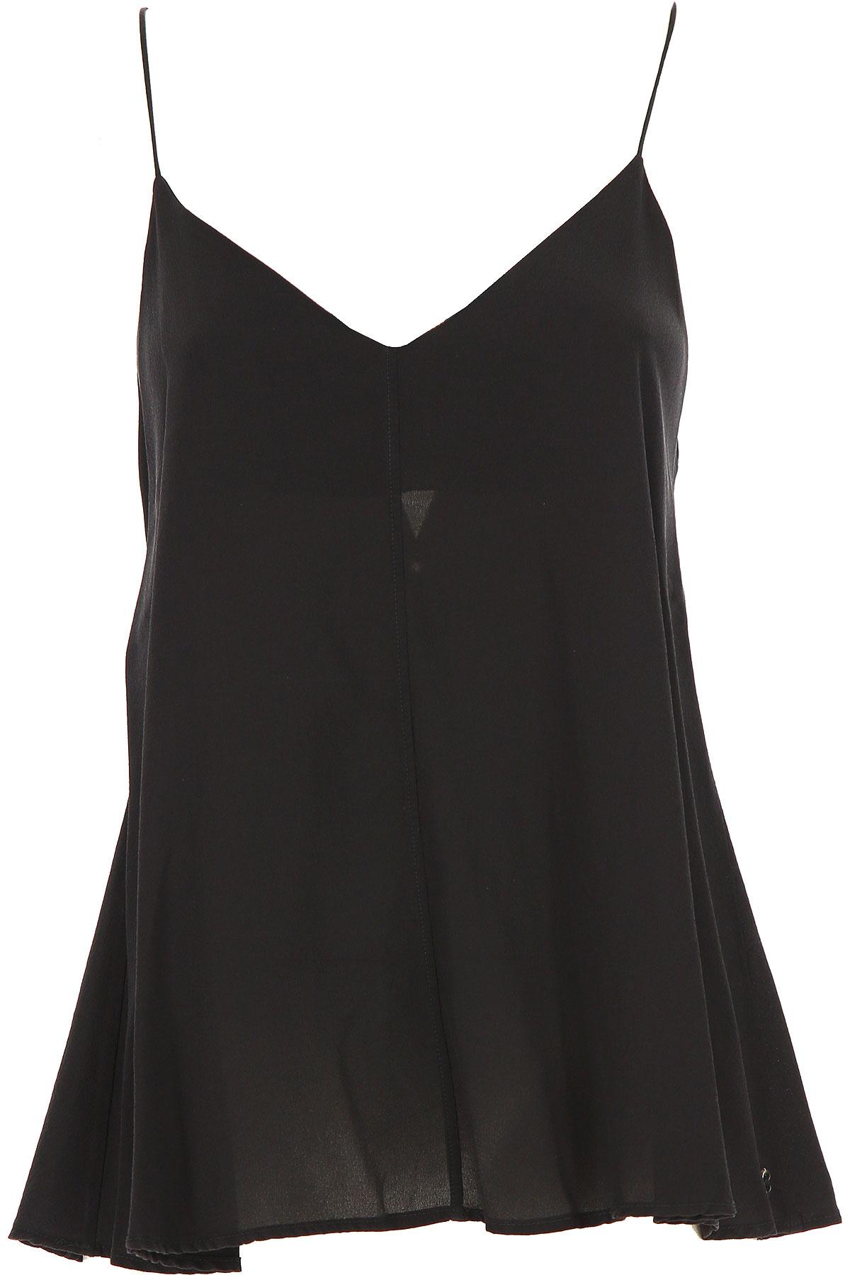 Image of Ottodame Top for Women On Sale, Black, Silk, 2017, US 6 - I 42 - GB 10 - F 38 US 8 - I 44 - GB 12 - F 40 US 10 - I 46 - GB 14 - F 42