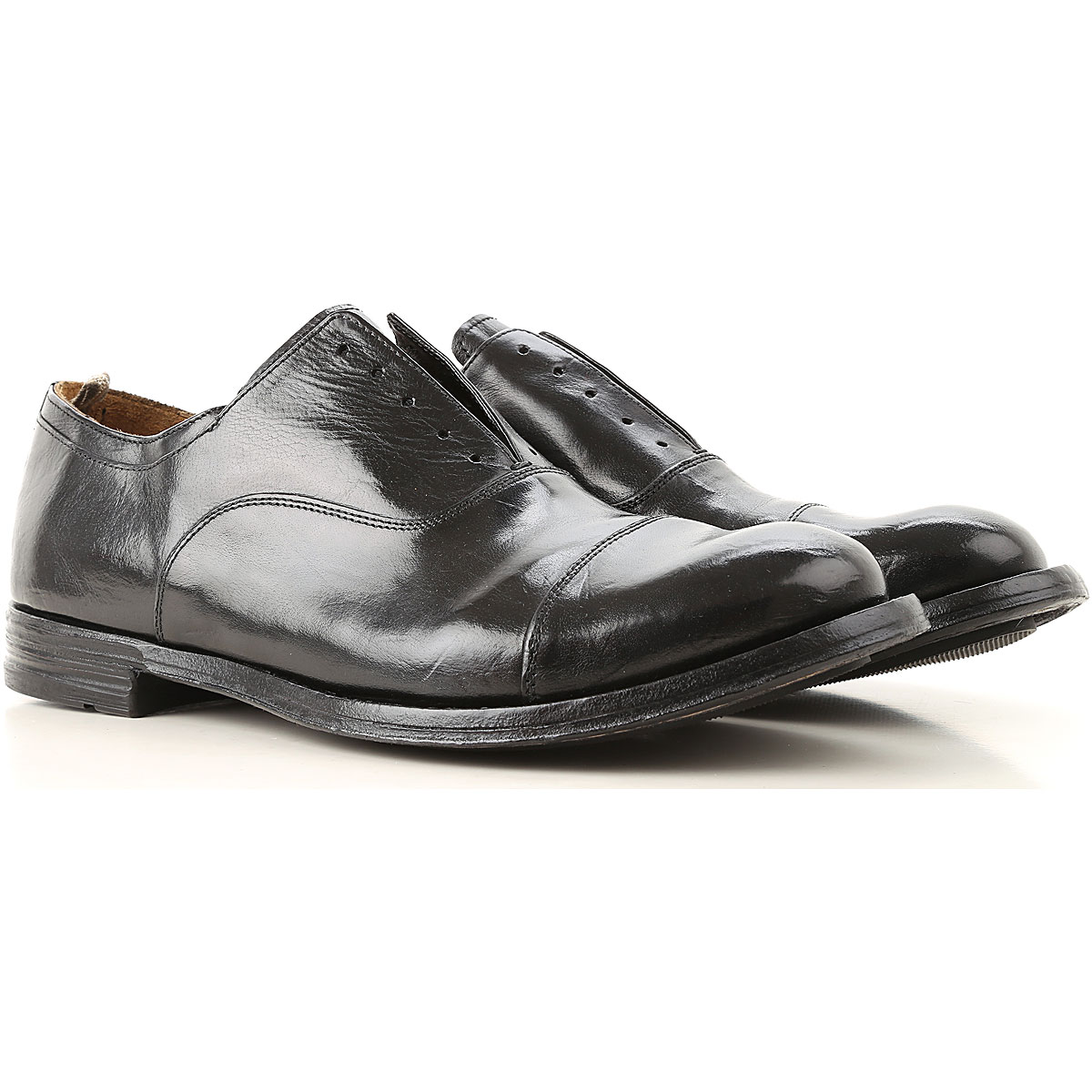 Image of Officine Creative Oxford Shoes for Men, New Bufalo Black, Leather, 2017, 10 10.5 7.5 8 9