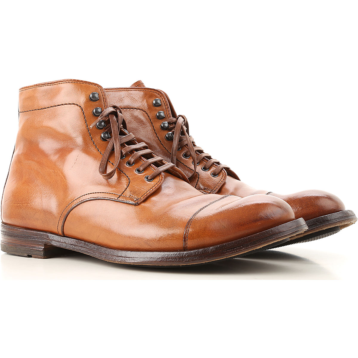 Image of Officine Creative Boots for Men, Booties, brown leather, Leather, 2017, 10 10.5 7.5 8 9