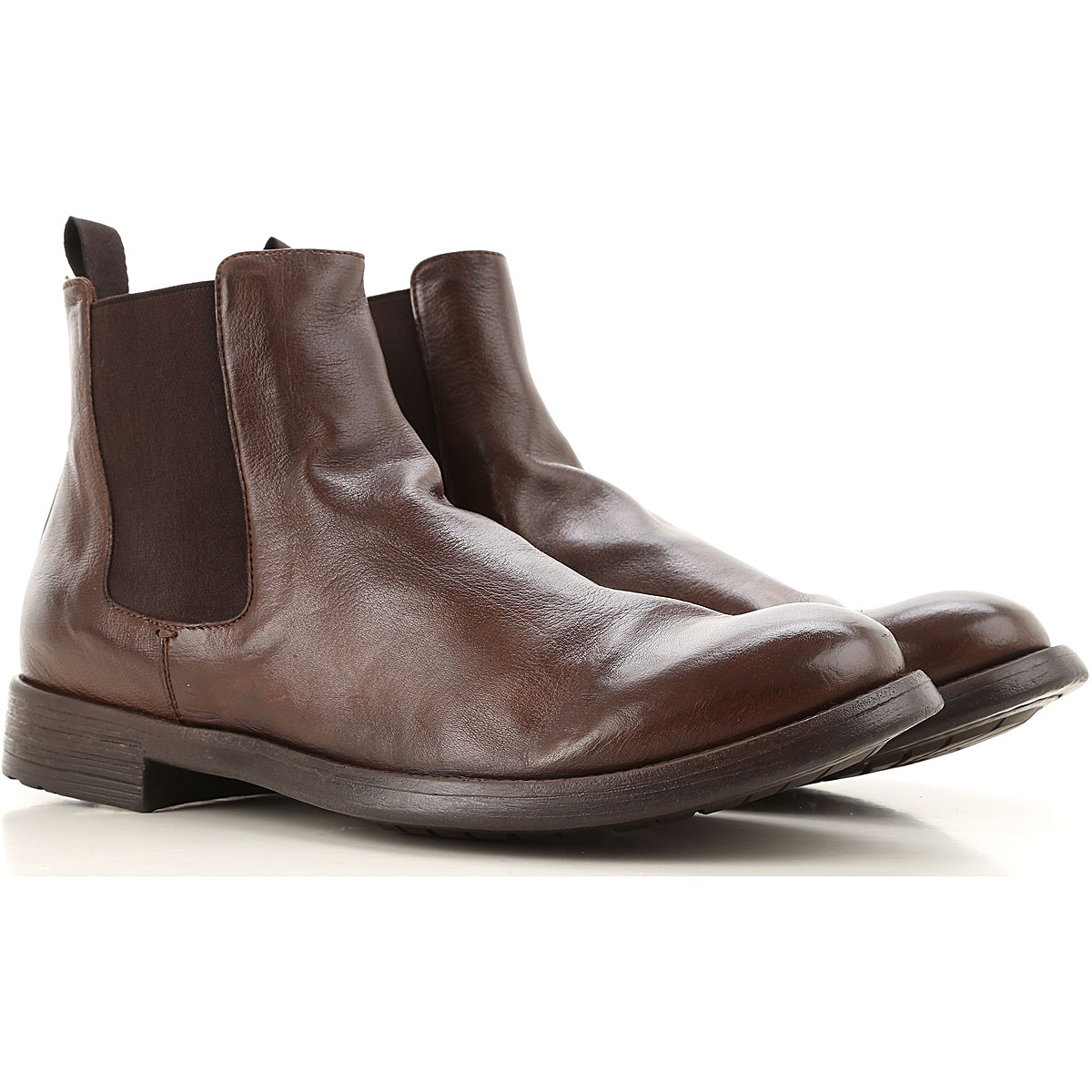 Officine Creative Chelsea Boots for Men On Sale, Cigar, Leather, 2019, 10 10.5 7.5 8.5