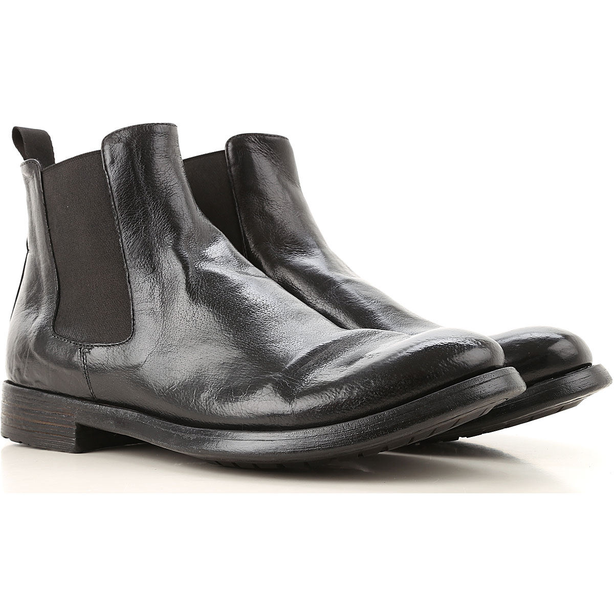 Officine Creative Chelsea Boots for Men On Sale, Black, Leather, 2019, 10.25 10.5 11 11.75 12 7 7.5 8.5