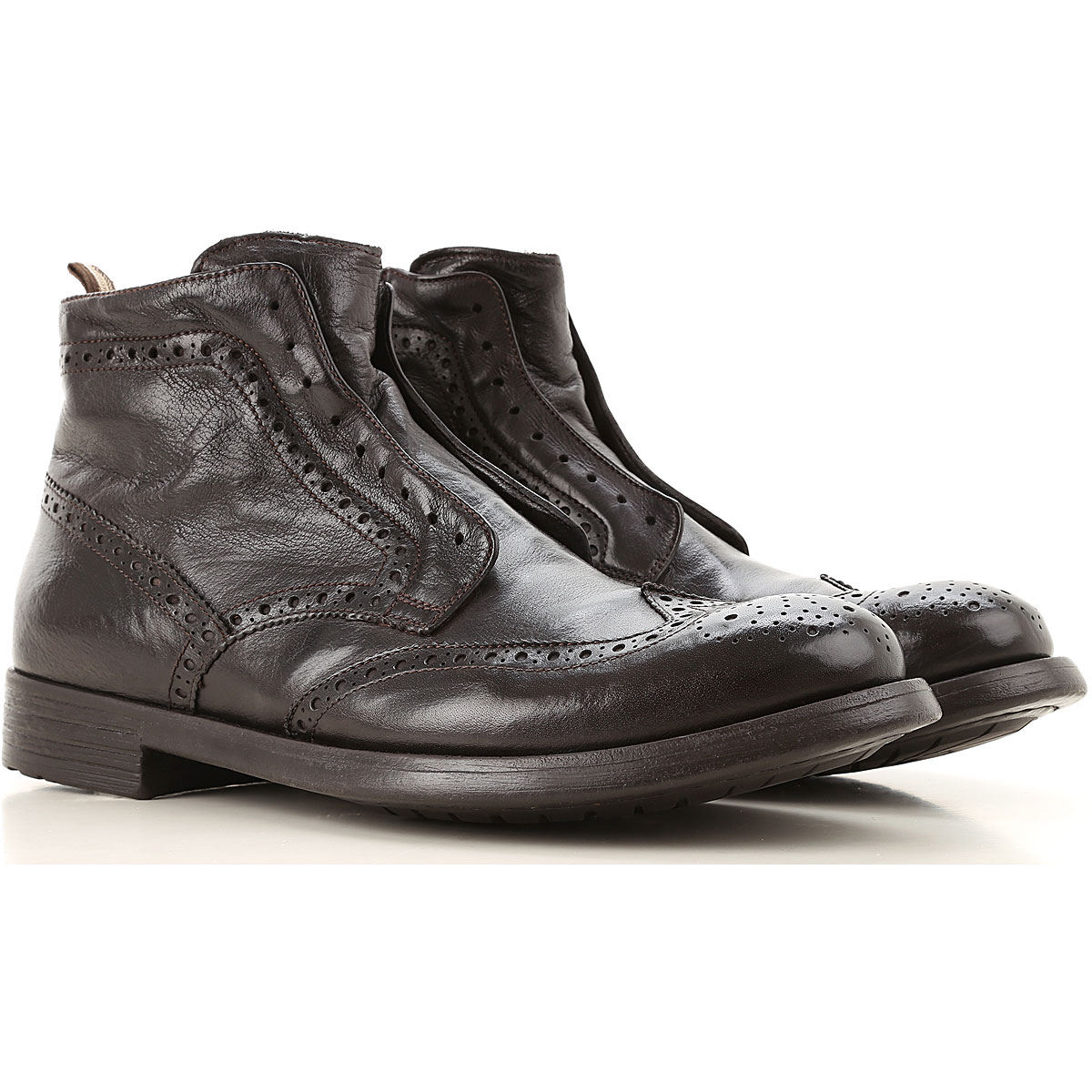 Officine Creative Boots for Men, Booties On Sale, Dark Ebony, Leather, 2019, 10 10.5 11.5 12 9.5