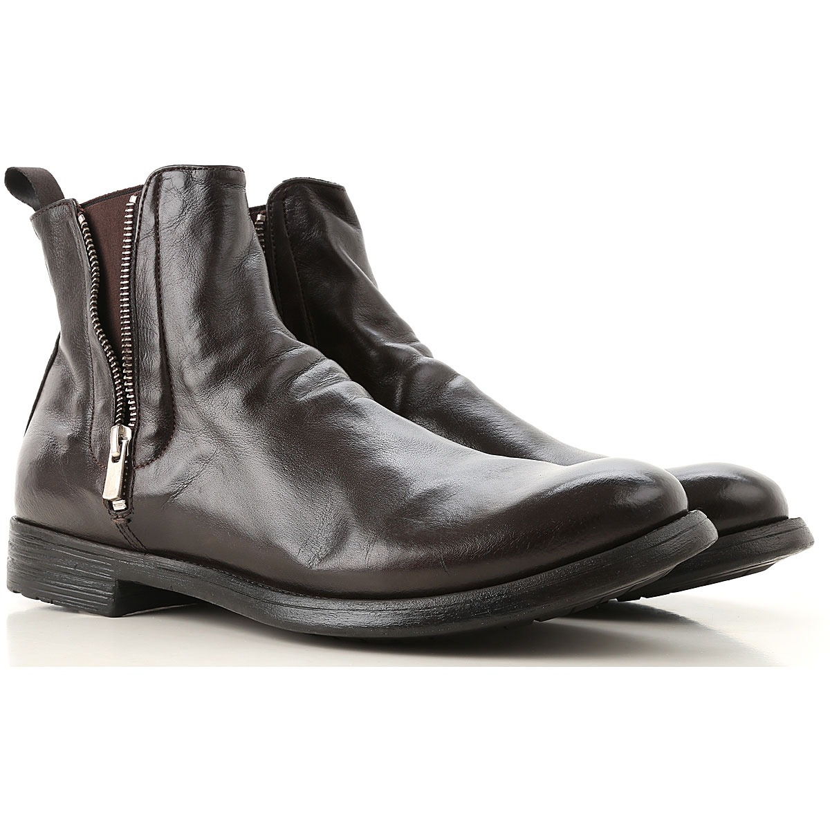 Image of Officine Creative Boots for Men, Booties, Black, Leather, 2017, 10 10.5 7.5 8 9