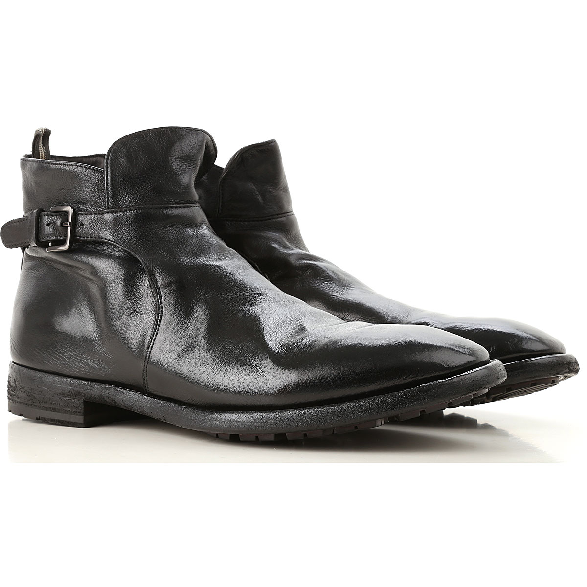 Image of Officine Creative Boots for Men, Booties, Black, Leather, 2017, 10 7.5 8 8.5 9 9.5
