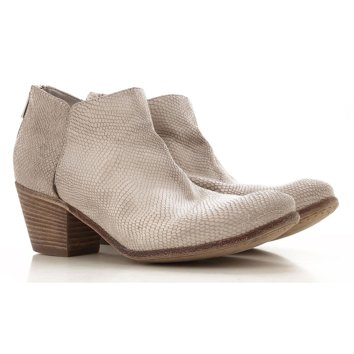 Image of Officine Creative Boots for Women, Booties On Sale, Beige Stone, Calfskin Leather, 2017, 6.5 7 8 8.5