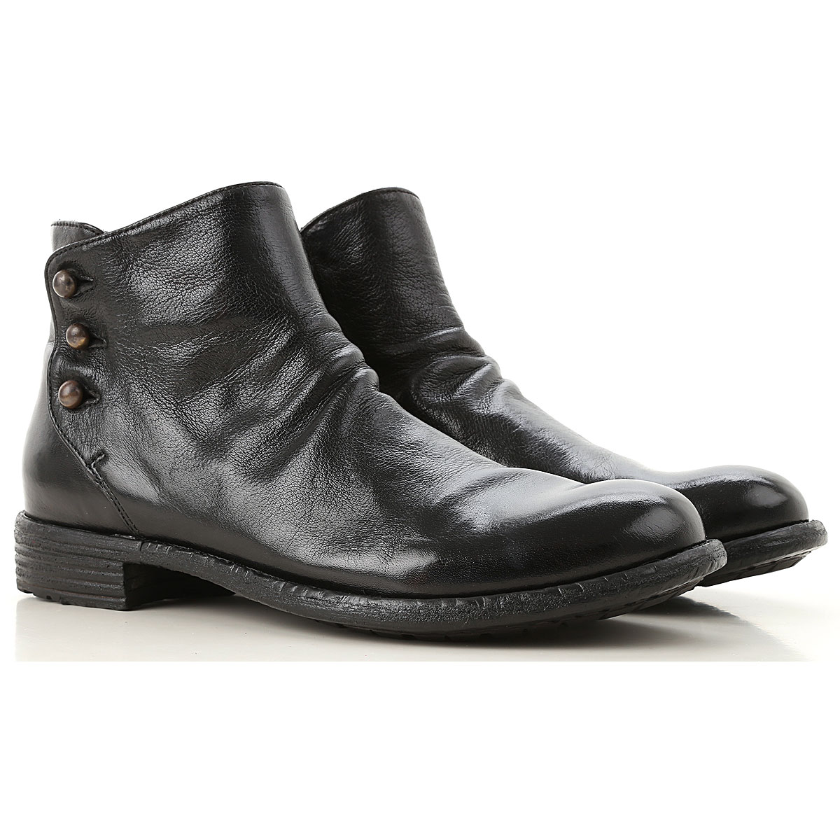Image of Officine Creative Boots for Women, Booties, Black, Leather, 2017, 6 7 8