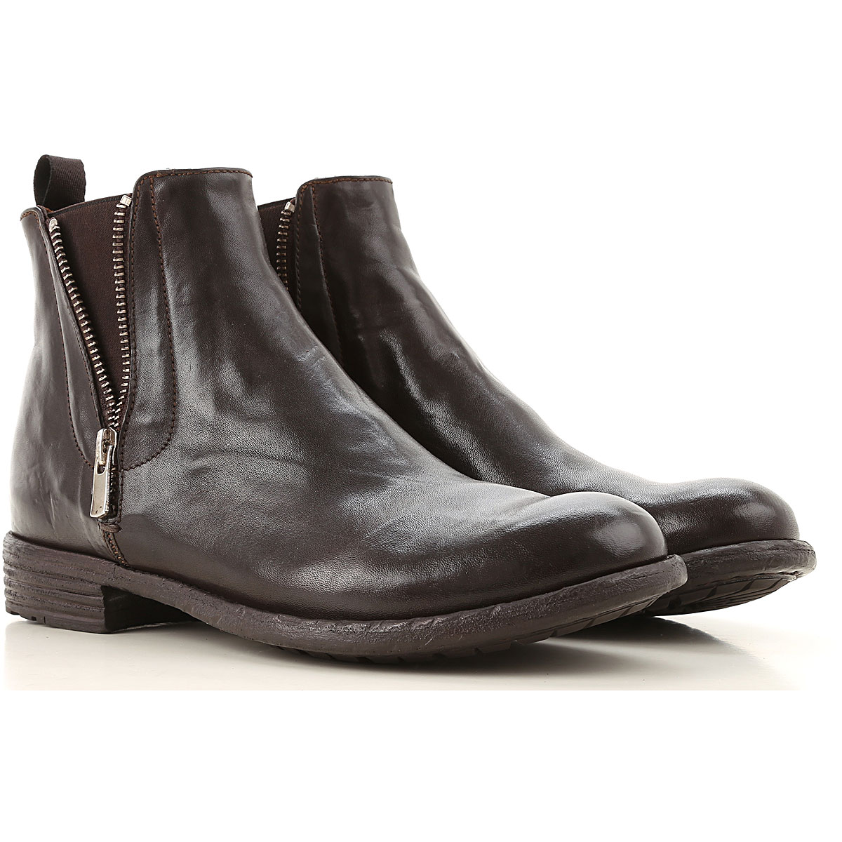 Officine Creative Chelsea Boots for Women On Sale, Cigar, Leather, 2019, 8 9