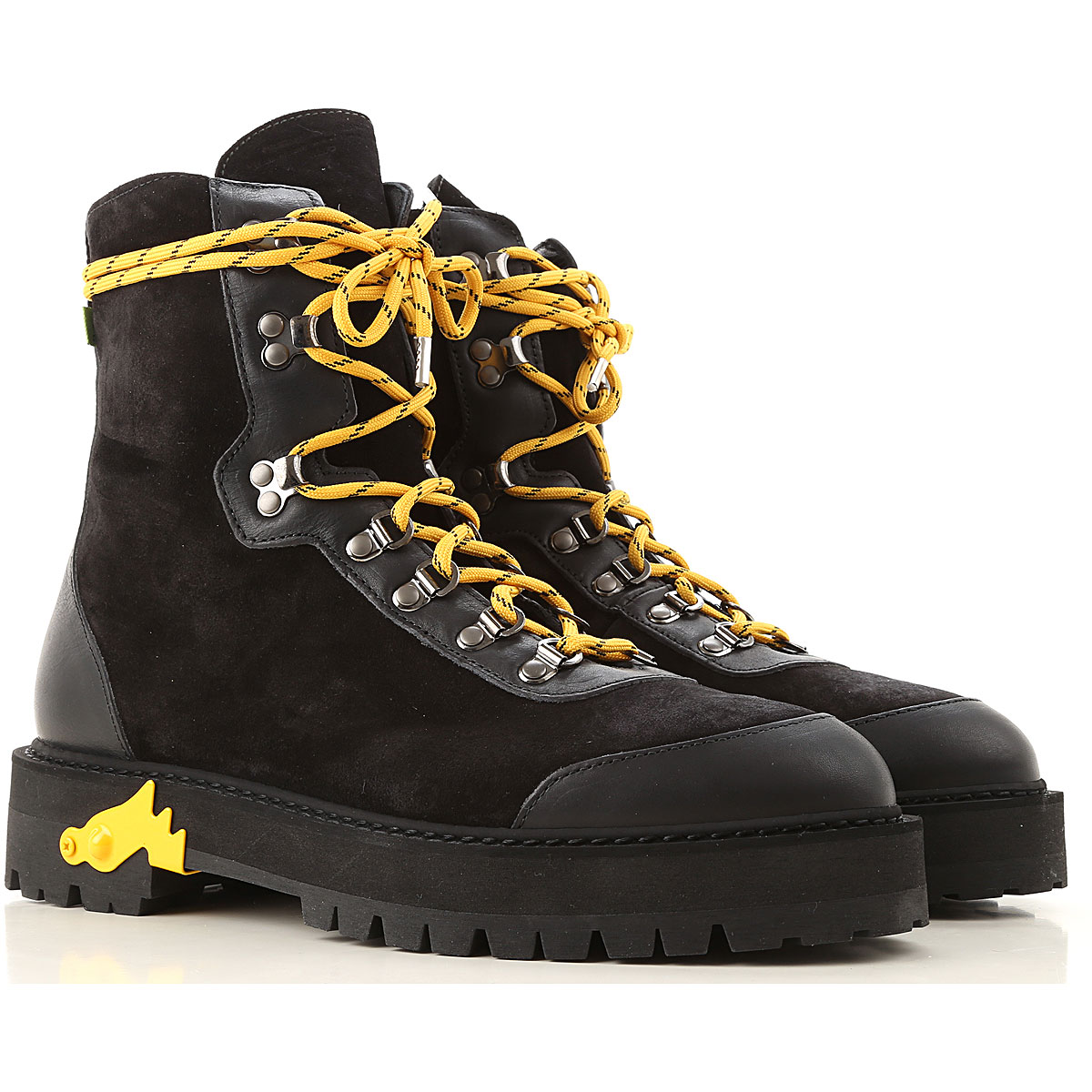 Off-White Virgil Abloh Boots for Men, Booties On Sale, Black, Suede leather, 2019, 10 10.5 6.5 7.5 8