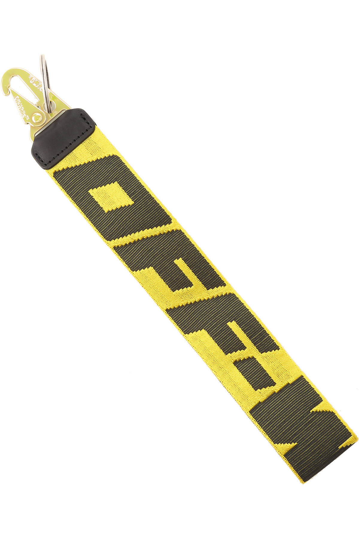 Off-White Virgil Abloh Key Chain for Men, Key Ring On Sale, Yellow, Fabric, 2019