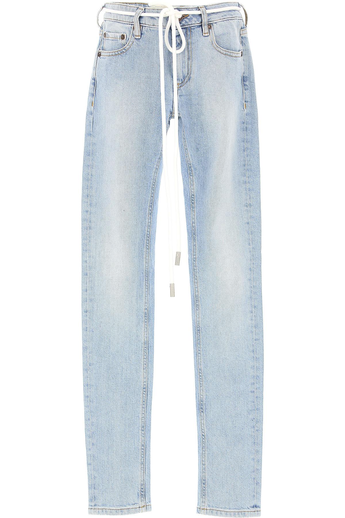 Off-White Virgil Abloh Jeans On Sale, Light Blue, polyester, 2017, 25 27 USA-465886