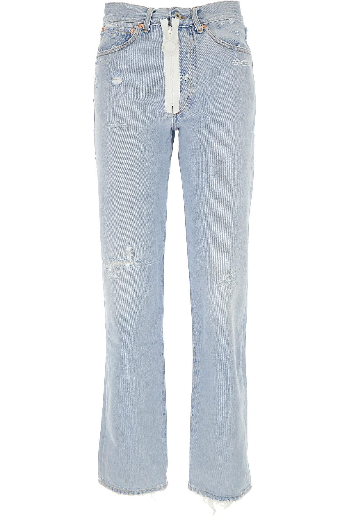 Off-White Virgil Abloh Jeans On Sale, Denim, Cotton, 2017, 10 6 8 USA-446075