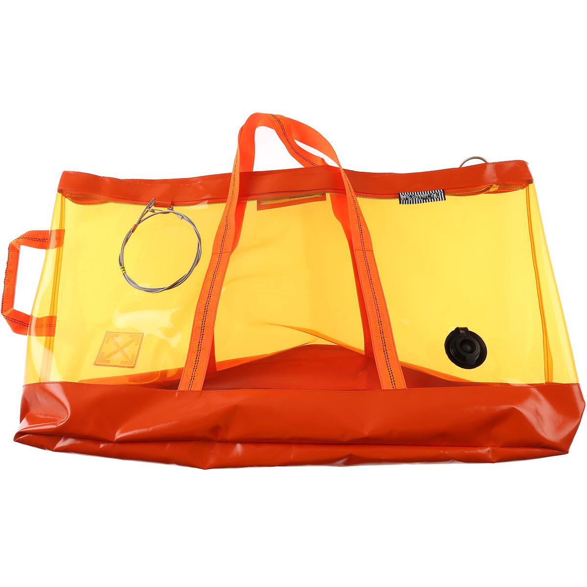 Off-White Virgil Abloh Handbags On Sale, Orange, plastic, 2019