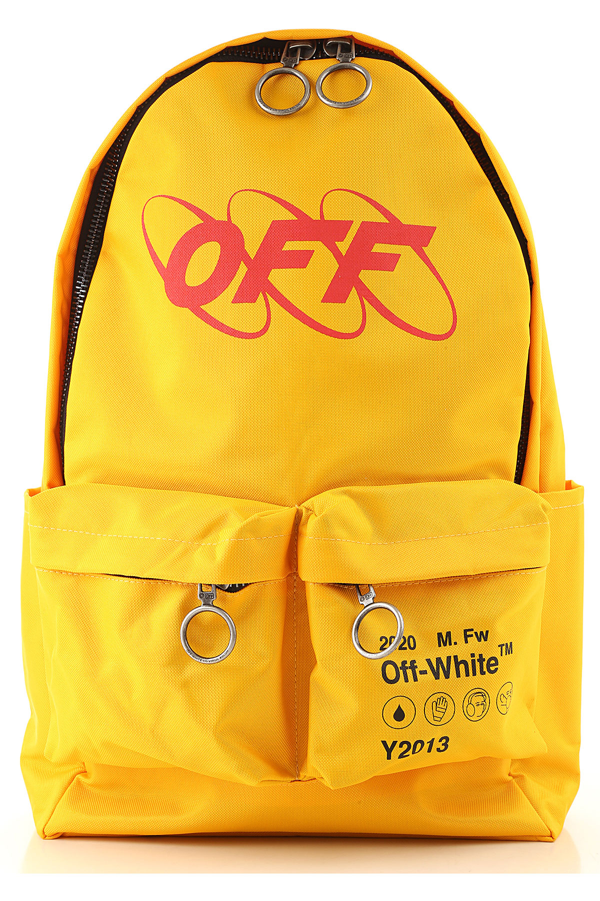 Off-White Virgil Abloh Backpack for Women On Sale, Canary Yellow, Polyvinyl Chloride, 2019