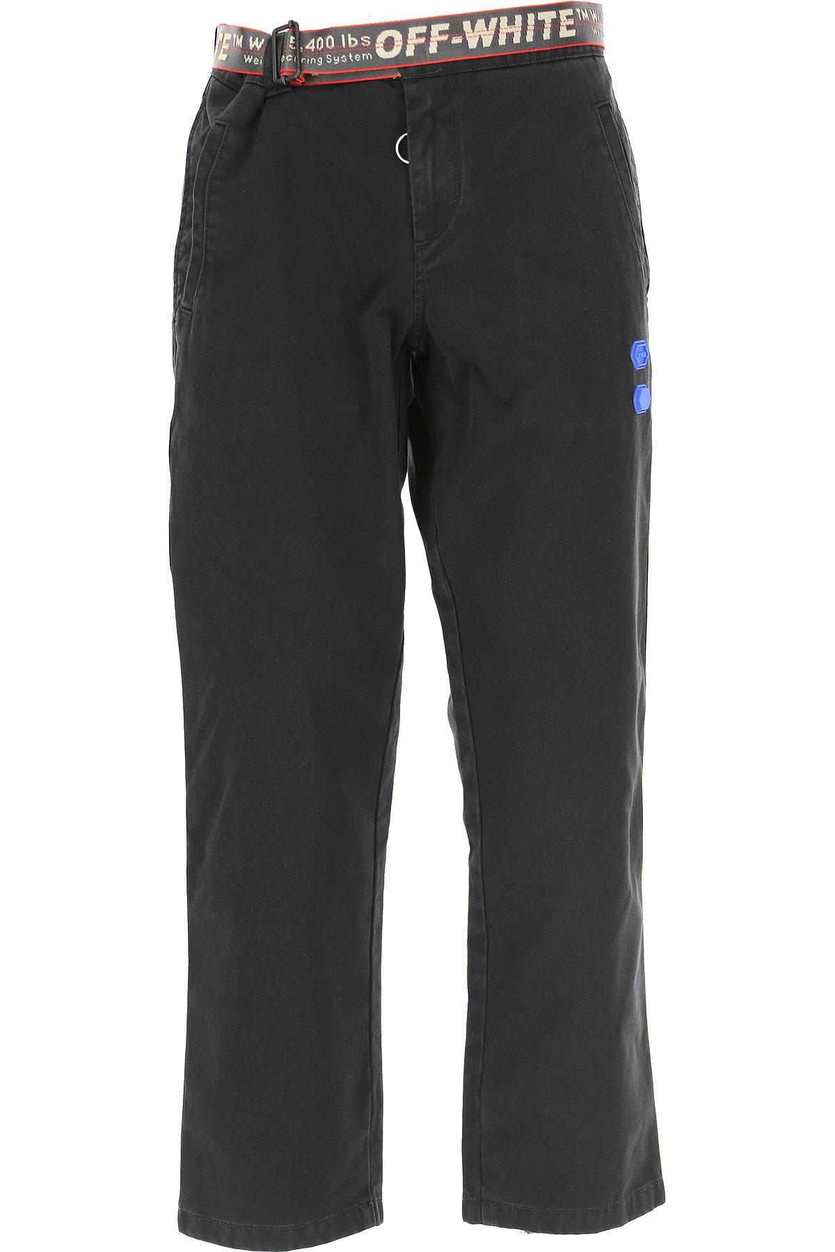Off-White Virgil Abloh Jeans On Sale, Black, Cotton, 2019, 29 30 31 32