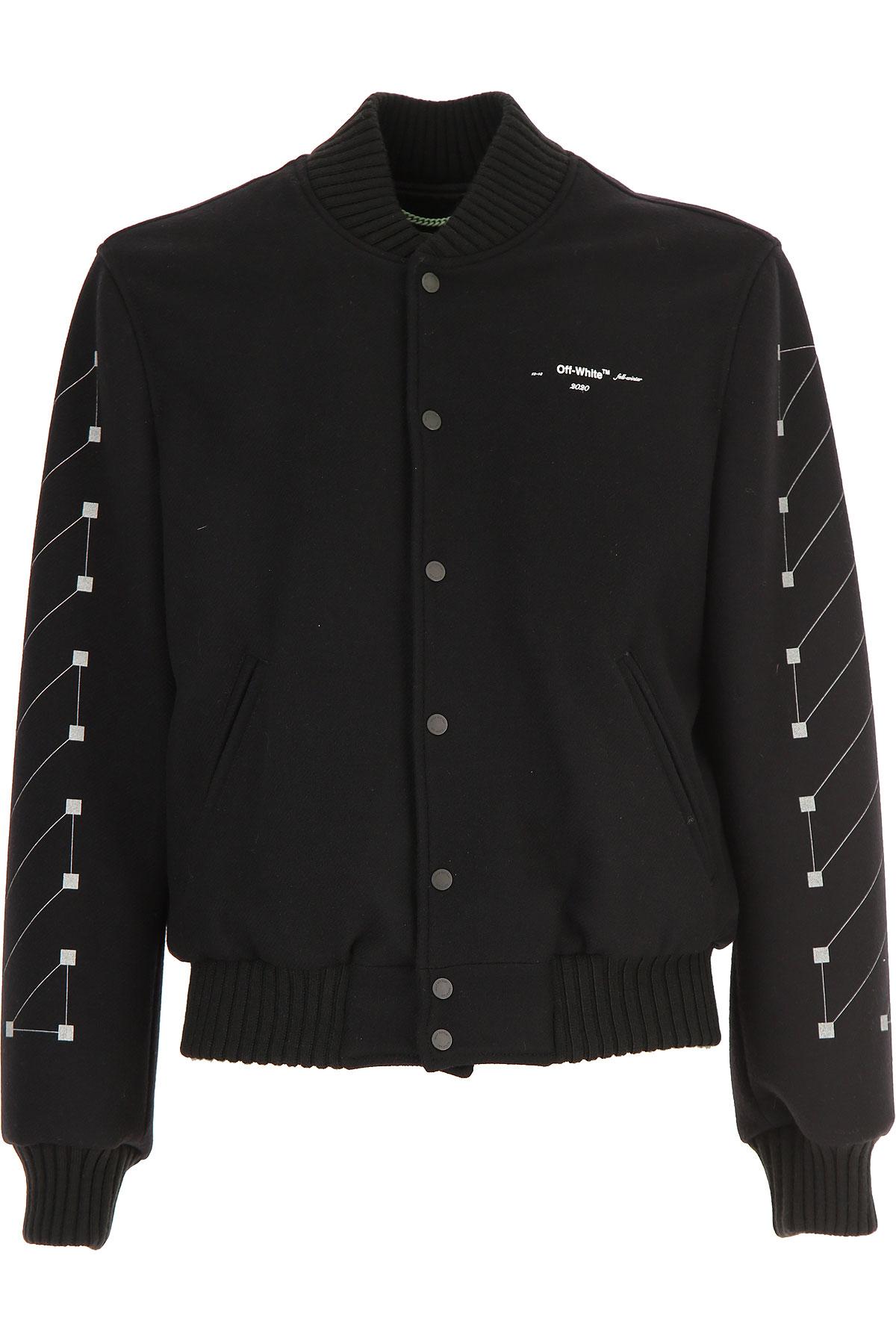 Off-White Virgil Abloh Jacket for Men On Sale, Black, Wool, 2019, L M S XS