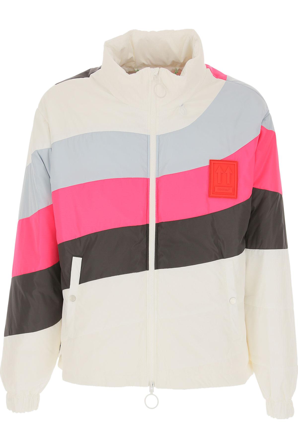 Off-White Virgil Abloh Down Jacket for Men, Puffer Ski Jacket On Sale, White, Down, 2019, L M S XL