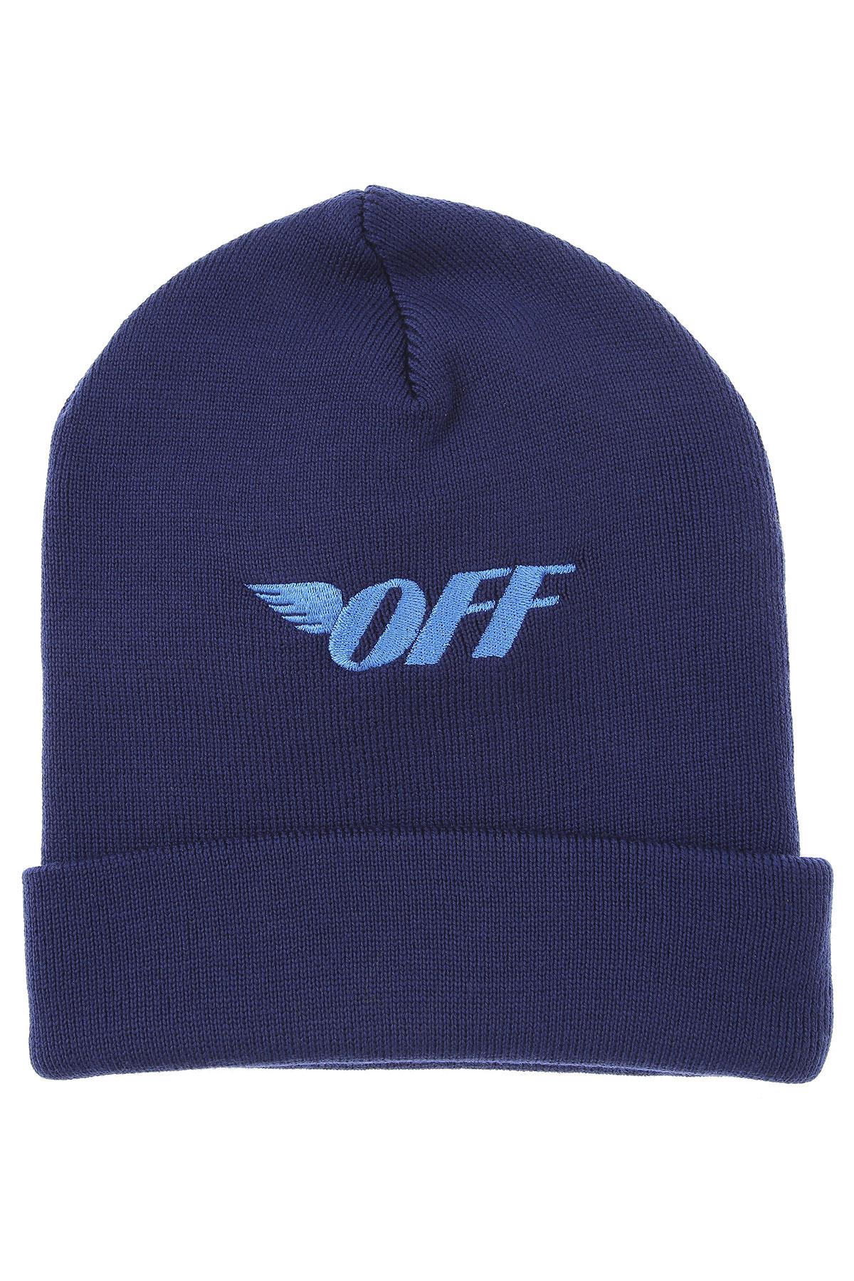 Off-White Virgil Abloh Hat for Women On Sale, Blu, Wool, 2019