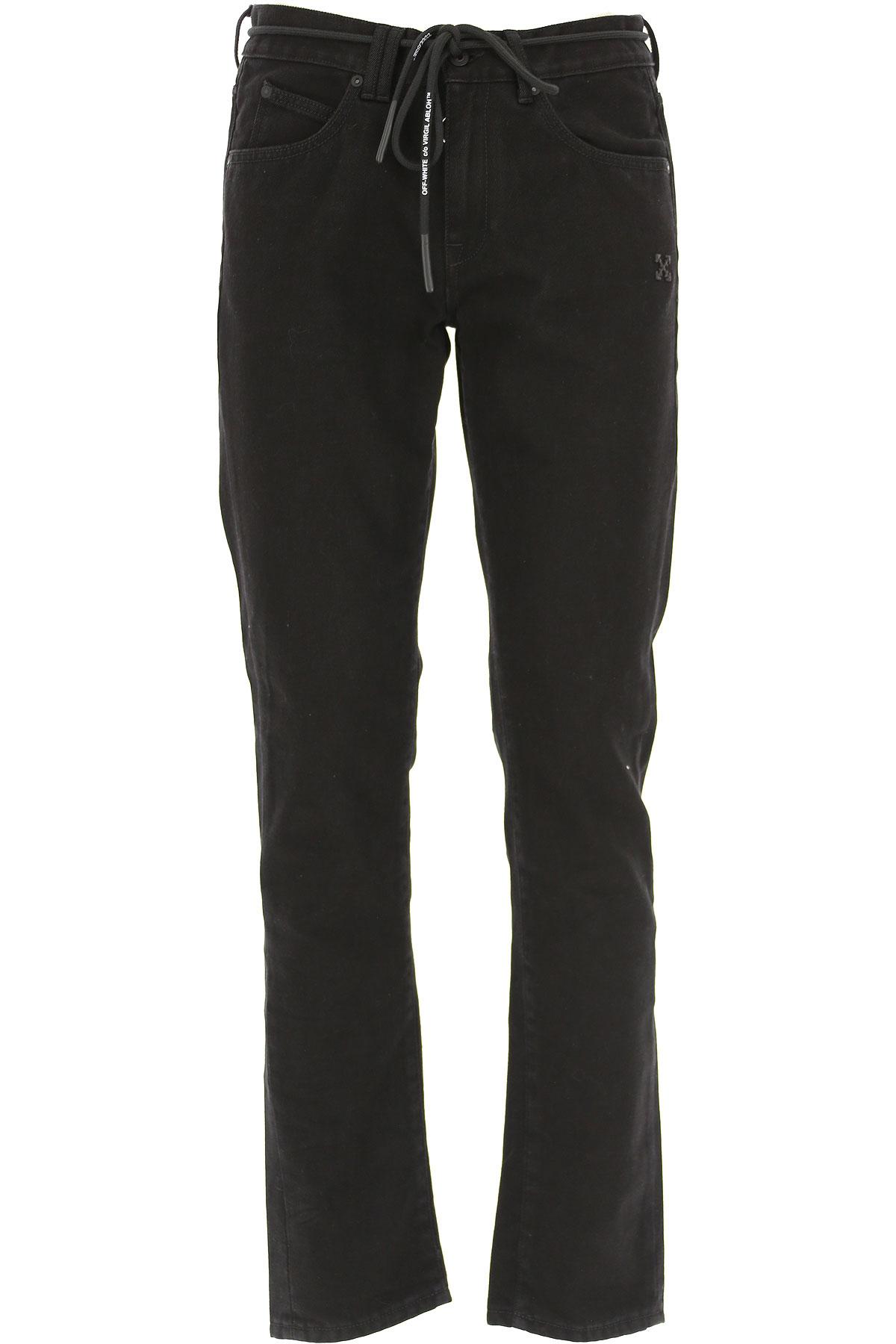 Off-White Virgil Abloh Jeans On Sale, Black, Cotton, 2019, 29 30 31 32 33 34