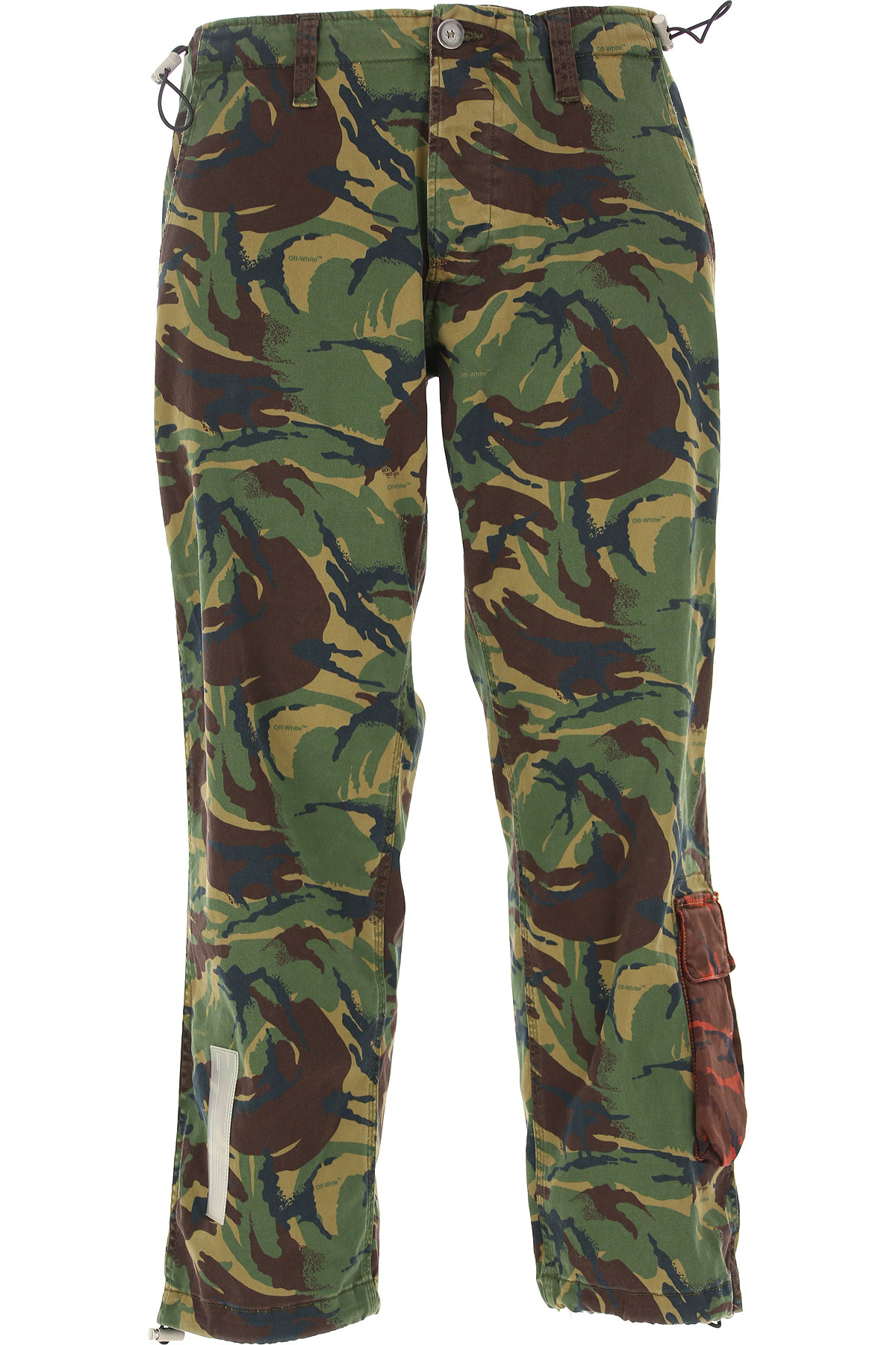 Off-White Virgil Abloh Pants for Men On Sale in Outlet, camouflage, Cotton, 2019, 29 30 32