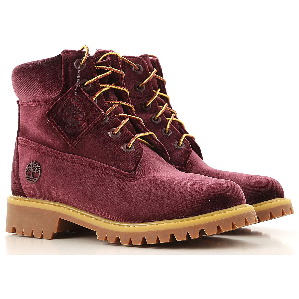 Off-White Virgil Abloh Boots for Women, Booties On Sale in Outlet, Burgundy, Velvet, 2019, US 7 (EU 38) US 9.5 (EU 40.5)