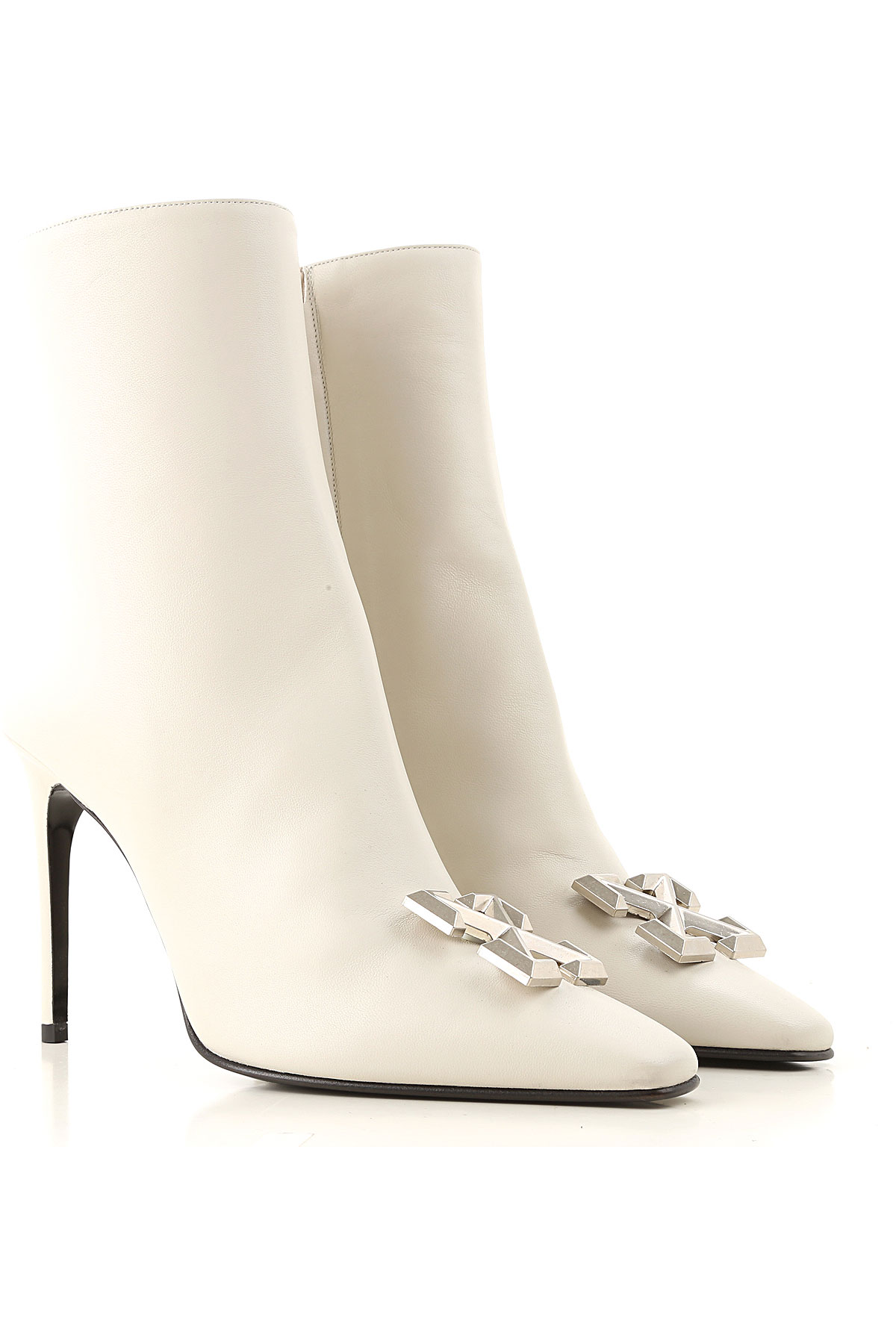 Off-White Virgil Abloh Boots for Women, Booties On Sale, Ice Grey, 2019, 7