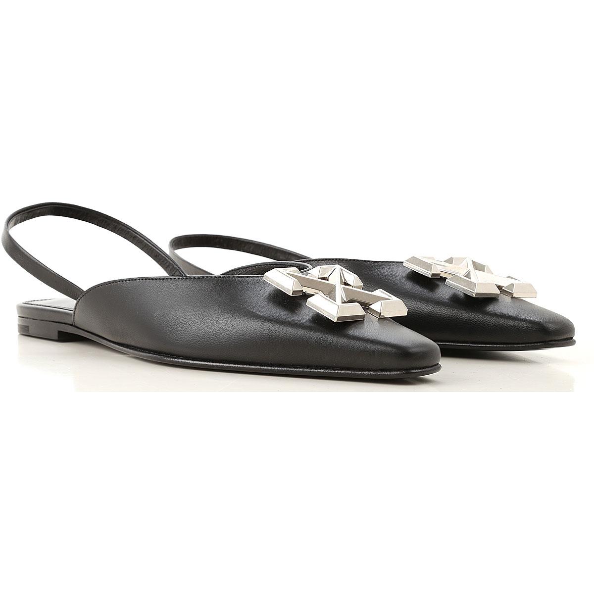 Off-White Virgil Abloh Sandals for Women On Sale, Black, Leather, 2019, 5 7