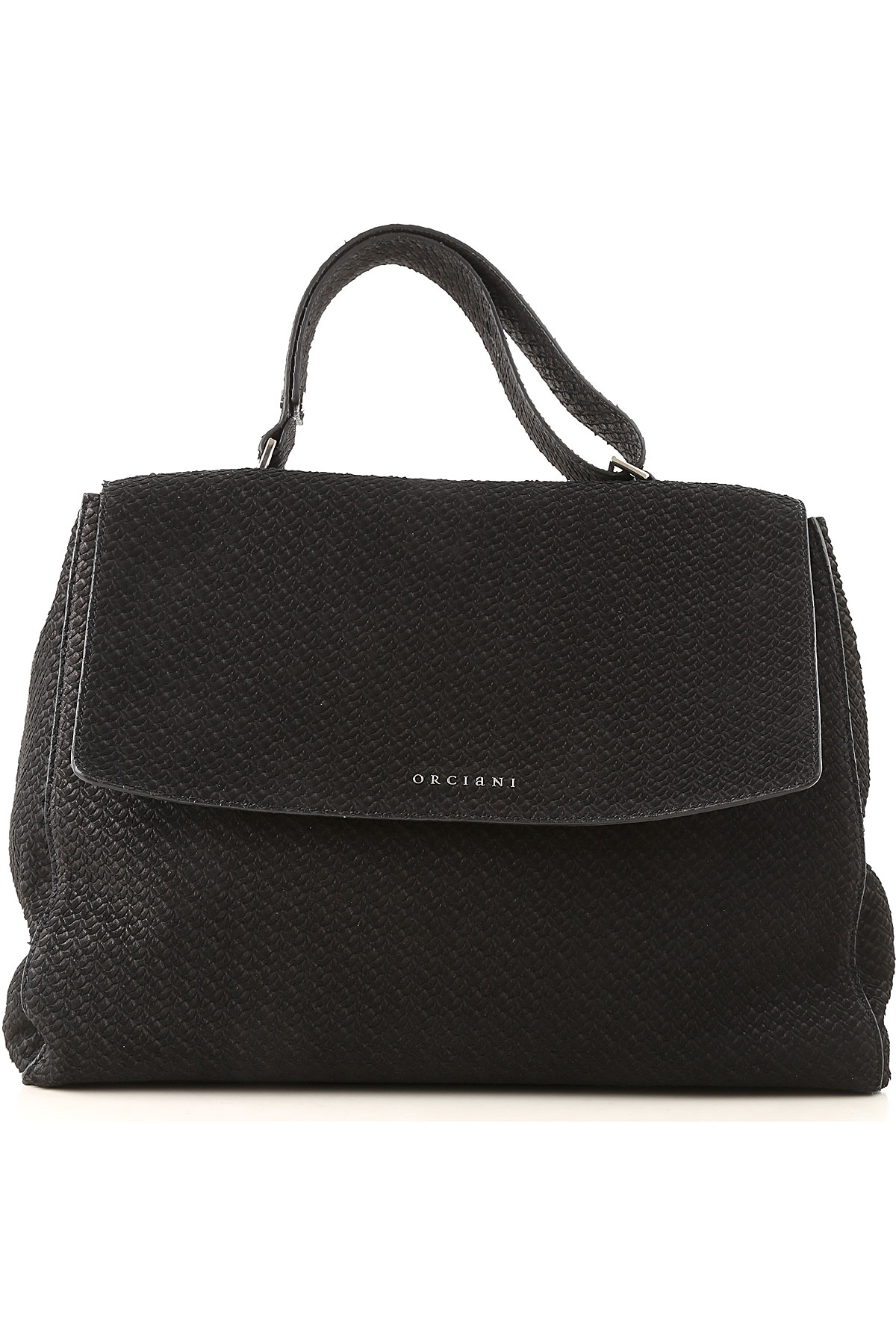 Image of Orciani Handbags, Black, suede, 2017
