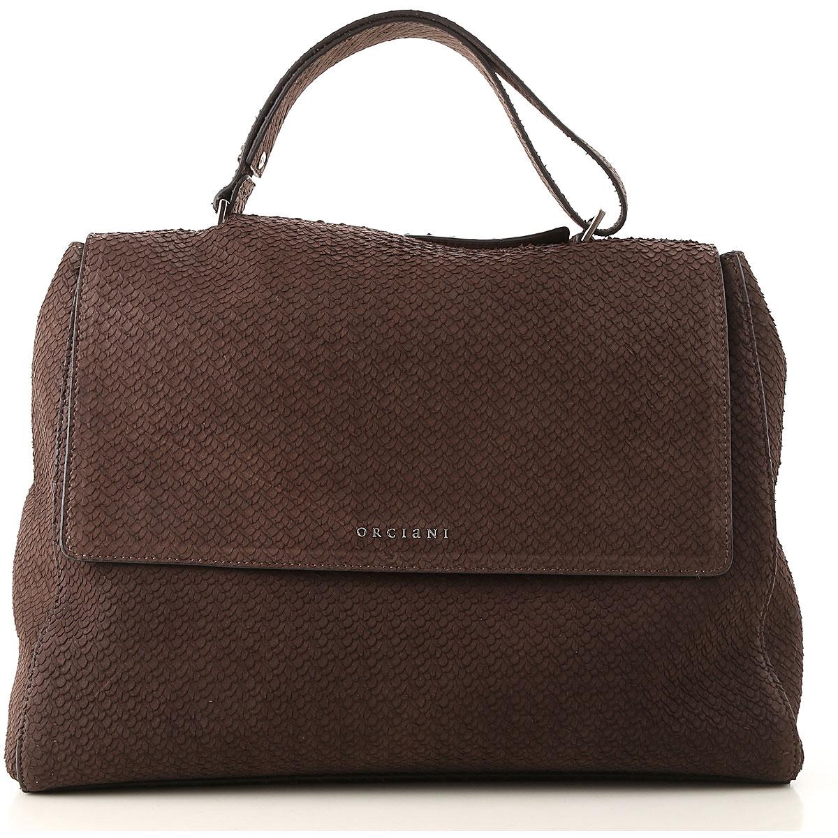 Image of Orciani Handbags, Brown, suede, 2017
