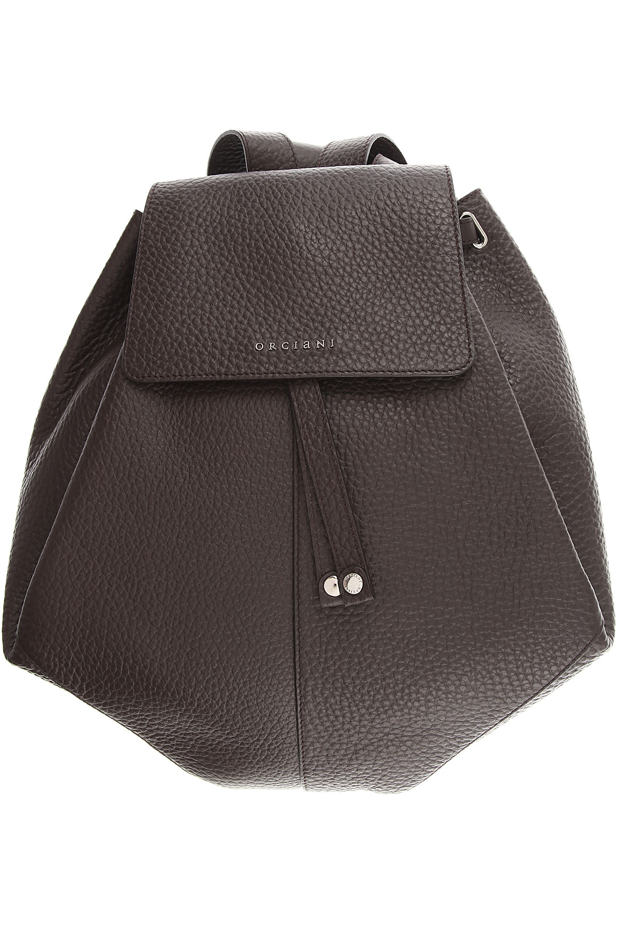 Image of Orciani Backpack for Women, Dark Brown, Leather, 2017