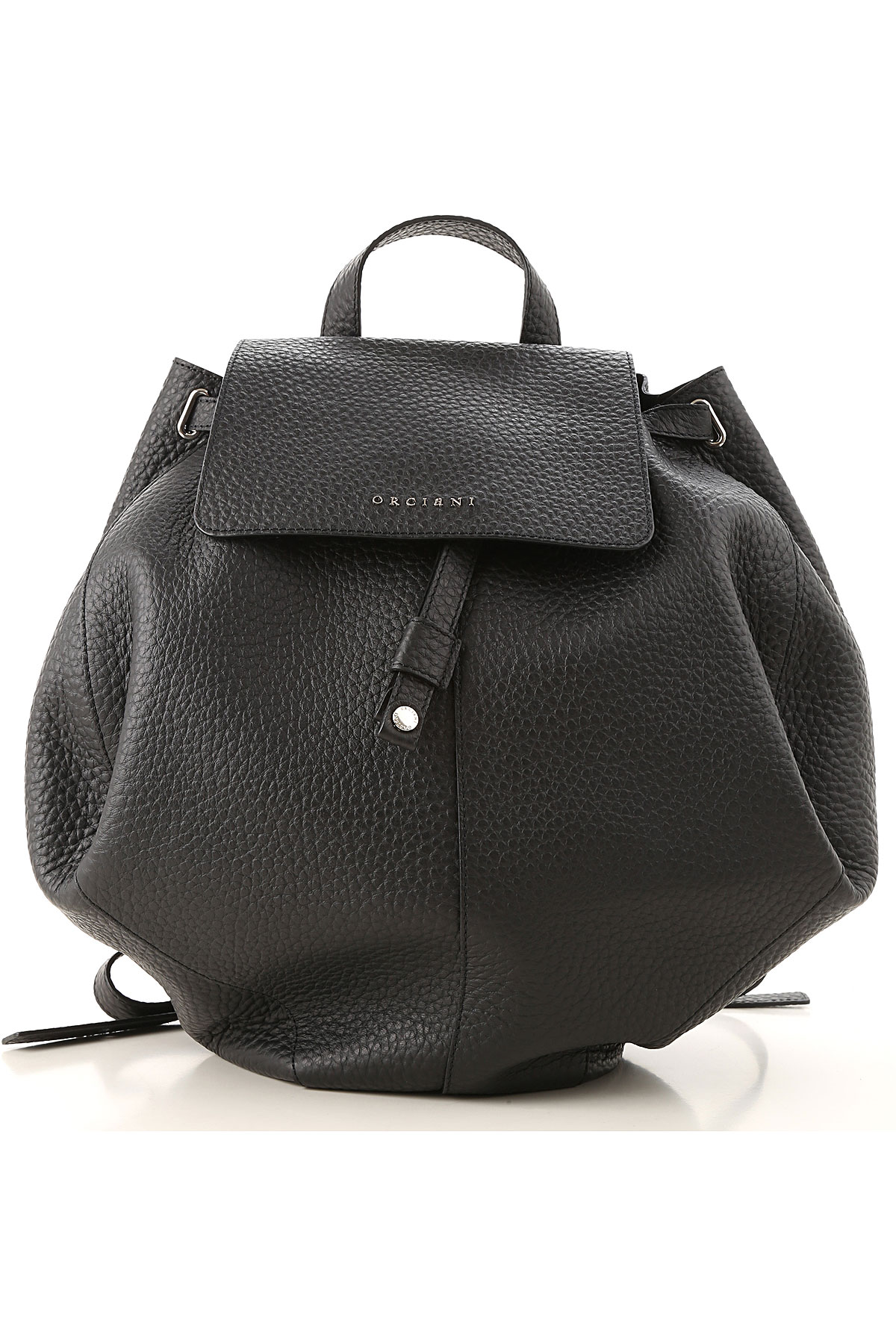 Image of Orciani Backpack for Women, Black, Leather, 2017