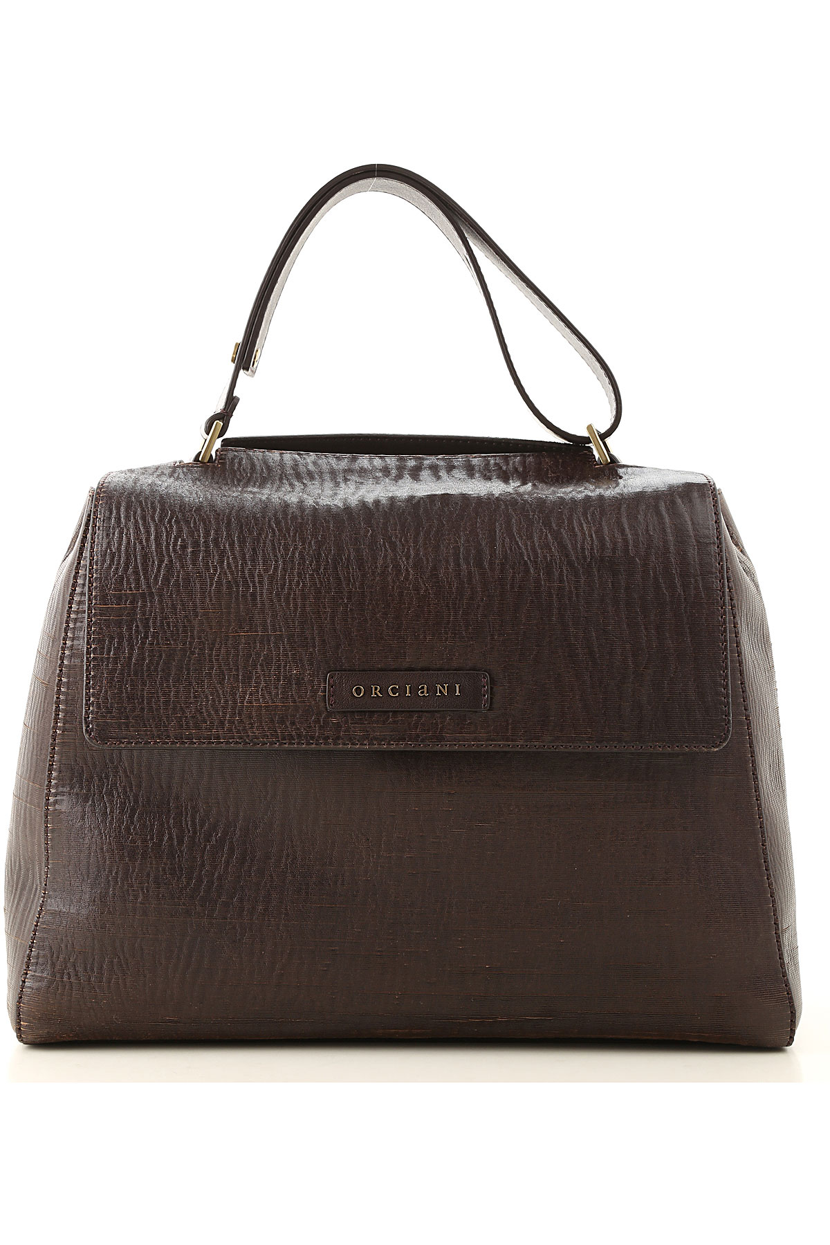 Orciani Top Handle Handbag On Sale, Dark Brown, Leather, 2019