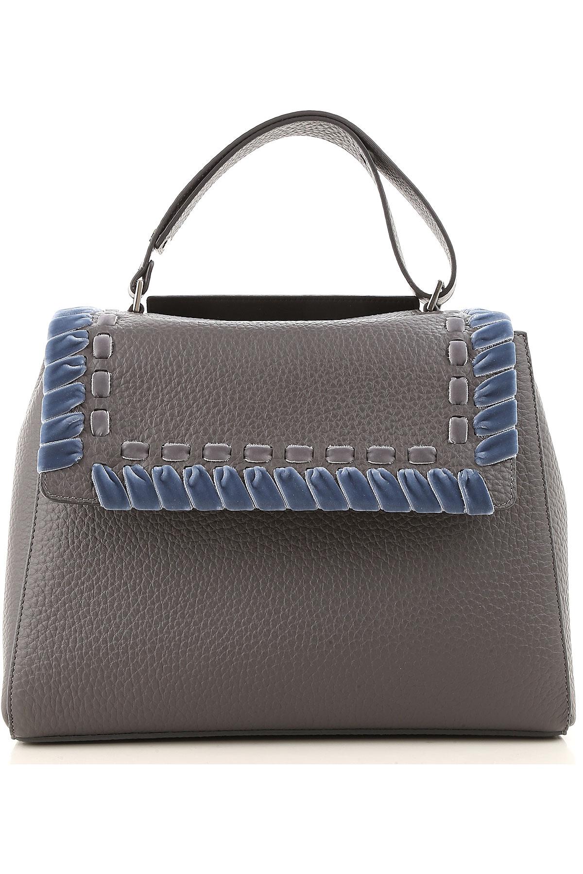 Image of Orciani Shoulder Bag for Women, Asphalt Grey, Leather, 2017