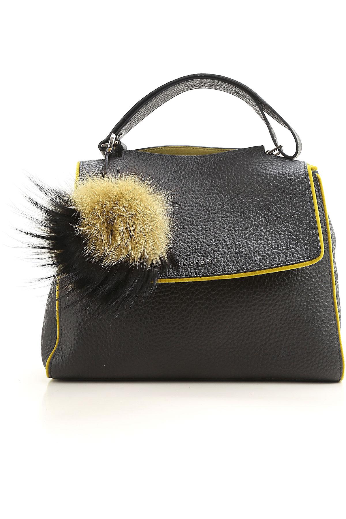 Image of Orciani Shoulder Bag for Women, Black, Leather, 2017